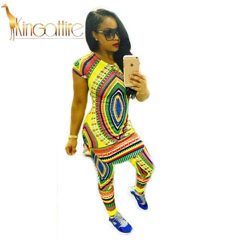 yellow dashiki bottom set