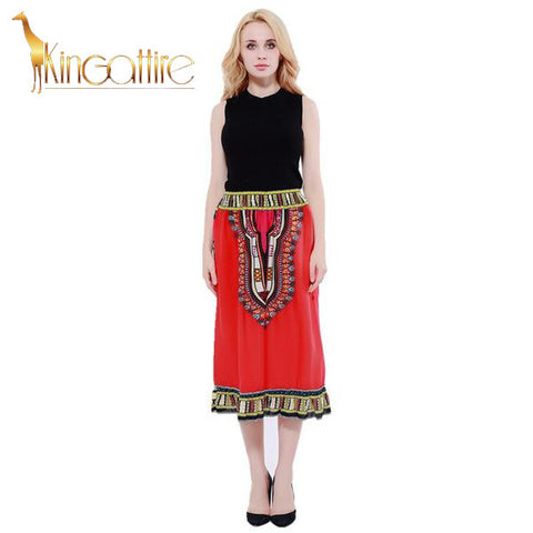 red dashiki skirt1