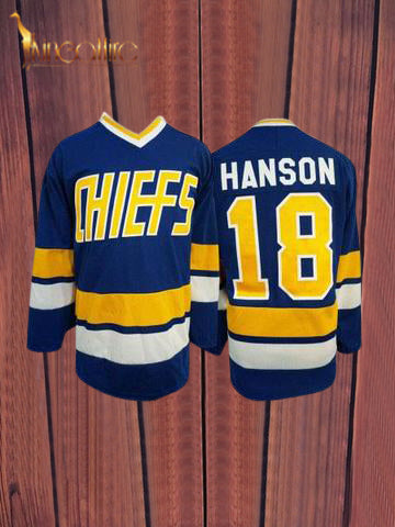 Slap Shot- Jeff Hanson #18 (Blue)