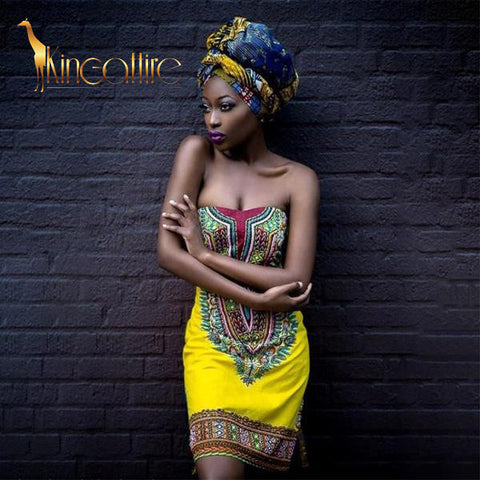 off shoulder yellow dashiki