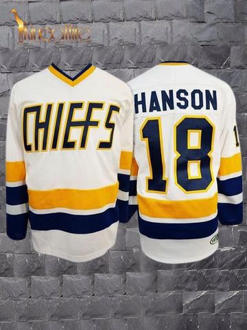 Slap Shot- Jeff Hanson #18 (White)