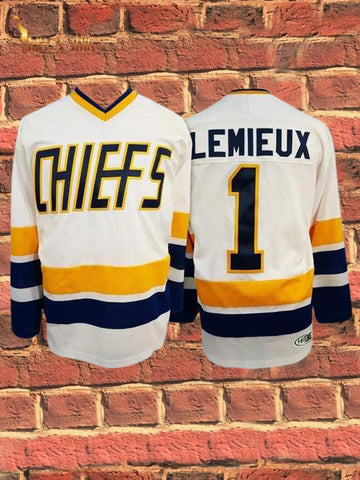 Slap Shot- Lemieux #1 (White)