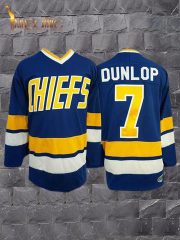 Slap Shot- Reggie Dunlop #7 (Blue)