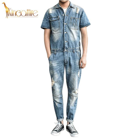 Blue Jean Men's Romper Jumpsuit