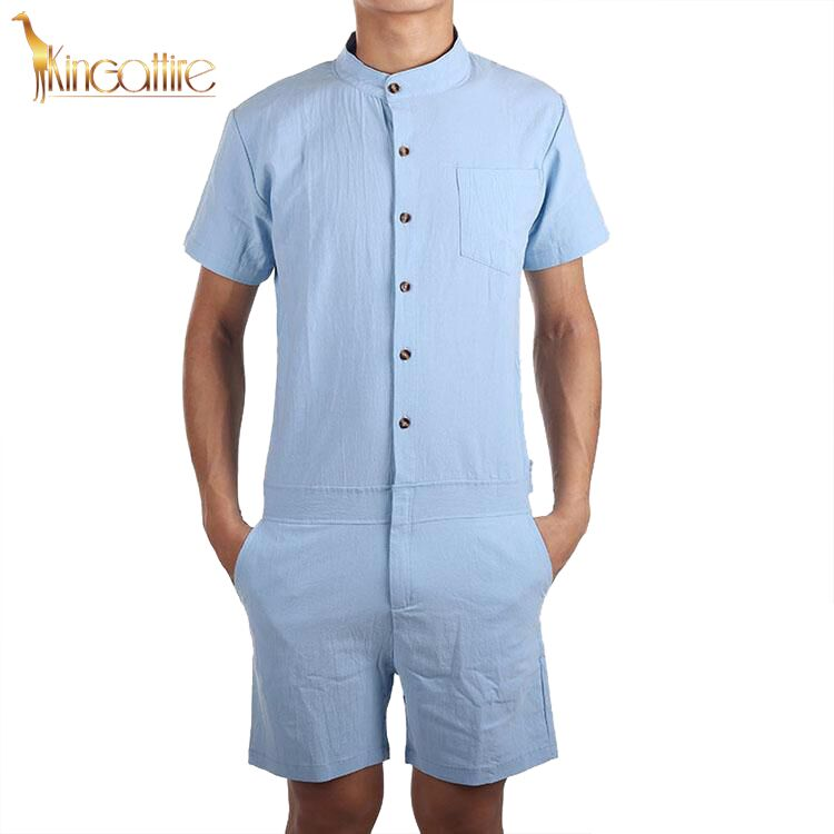 Light Blue Men's Romper