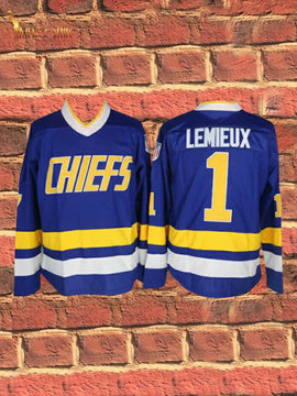 Slap Shot- Lemieux #1 (Blue)
