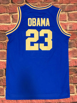 Punahou High- Barack Obama #23 (Blue)