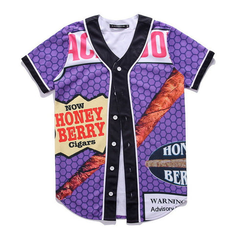 Honey Berry Cigar Baseball Jersey