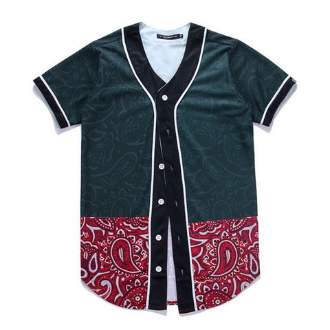 Red Bandana Baseball Jersey
