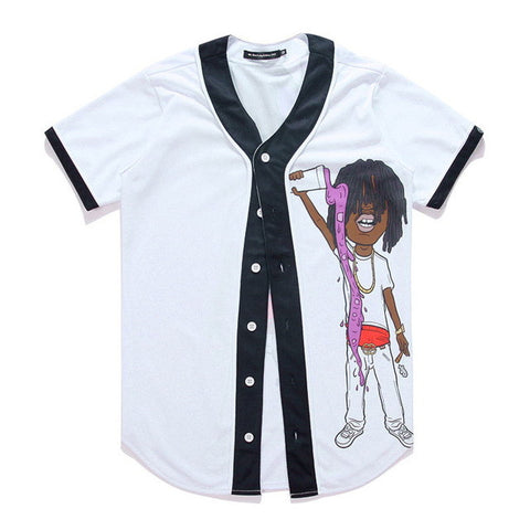 young lean baseball white jersey