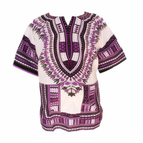 White Purple Dashiki