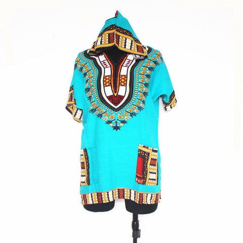 light green dashiki hoodie