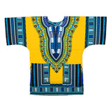 3xl blue yellow dashiki