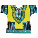 3xl yellow blue dashiki