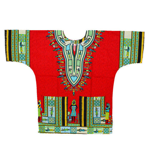 red short dashiki