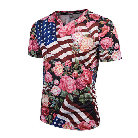 Flags and Flowers Tee