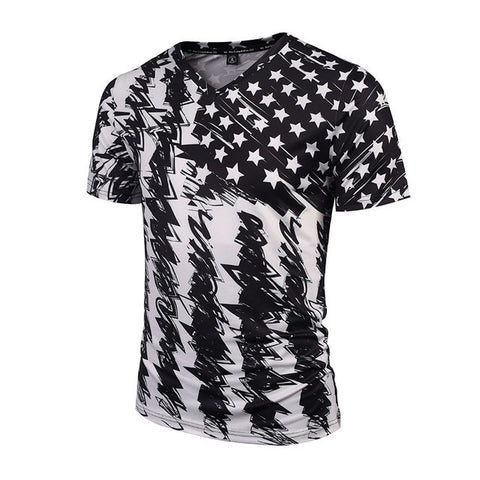 Abstract Flag Tee