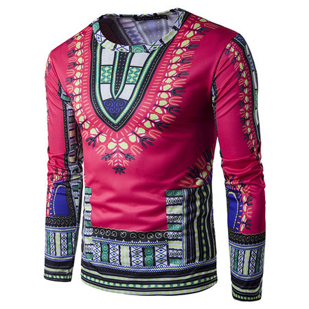 Rose Dashiki Long-Sleeved