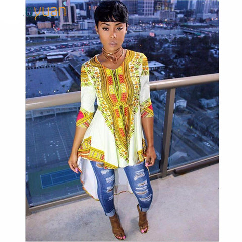 Yellow Queen Long Back Dashiki
