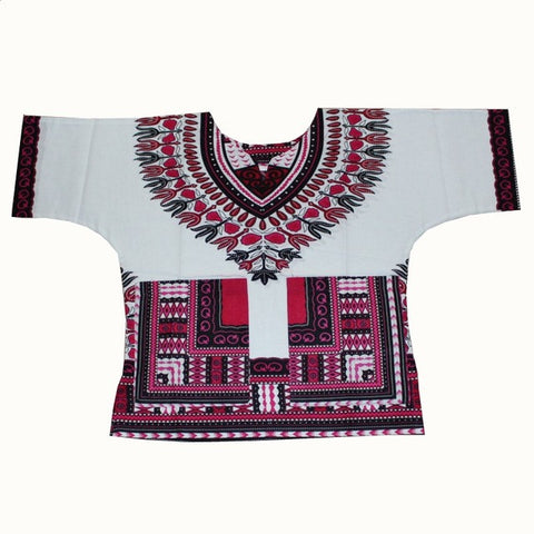 white pink Kids Dashiki