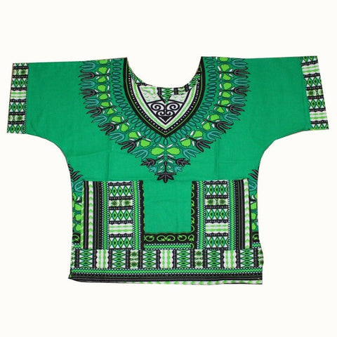 green Kids Dashiki