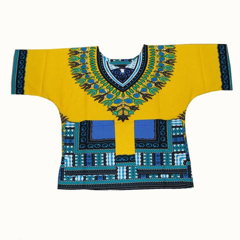 yellow blue Kids Dashiki