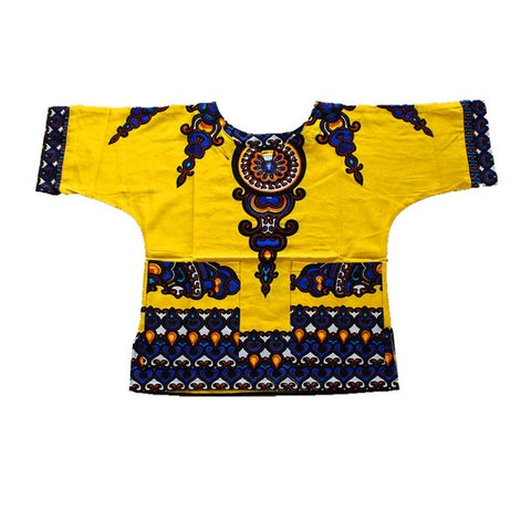 yellow kids dashiki