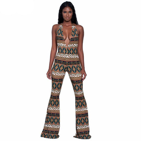 Cultural Print Romper Jumpsuit(Multiple Choices)