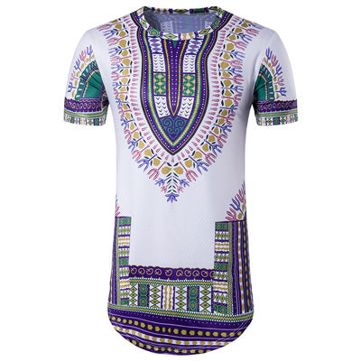 Long Dashiki Slim Shirt (Multiple Choices)