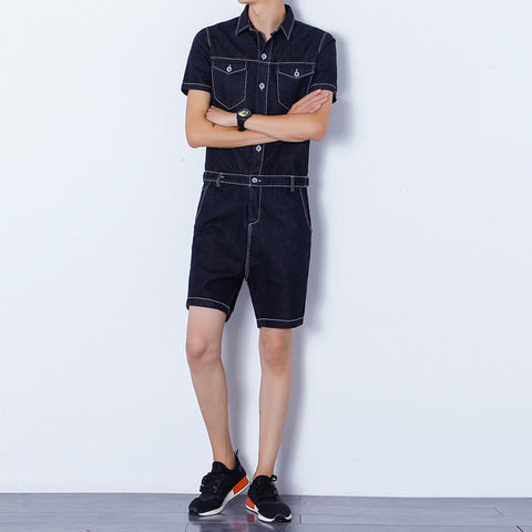 Denim Men's Romper(Multiple Colors)