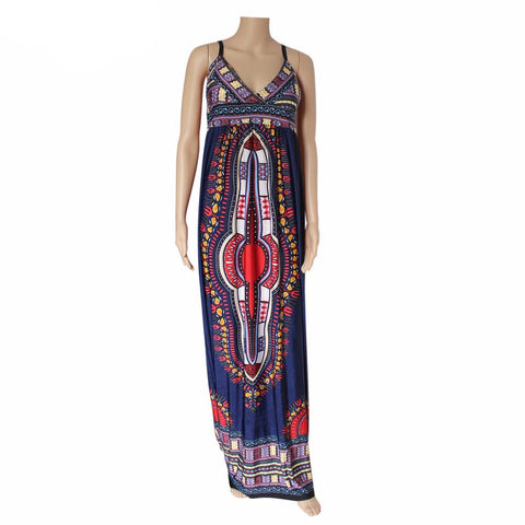 Sleeveless Dashiki Dress(Multiple Choices)