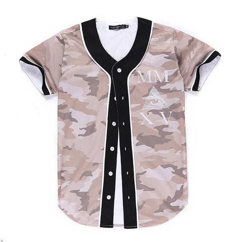 Triangle Eyes Baseball Jersey