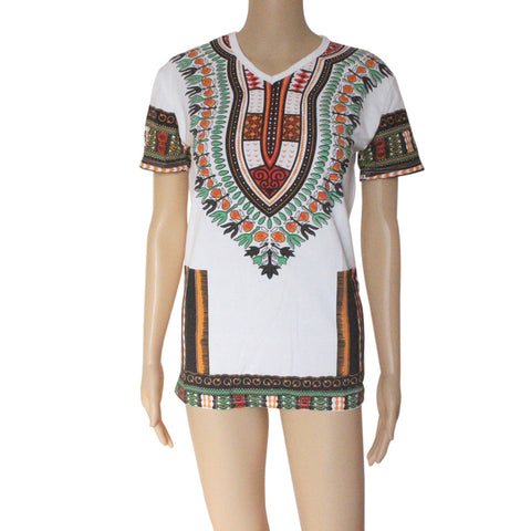 Women Dashiki Tee(Multiple Choices)