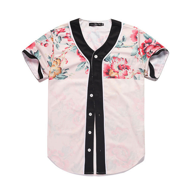 Floral Baseball Jersey