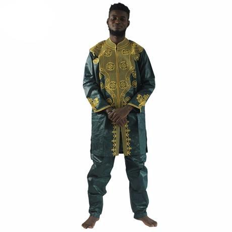 African Bazin Riche Men Dashiki (Multiple Choices)