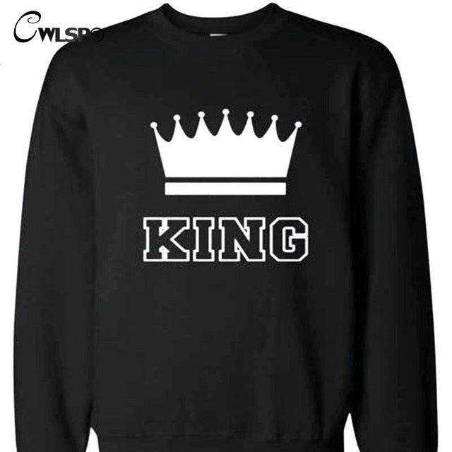 King/Queen 1 Sweatshirt Long-Sleeve (Multiple Choices)