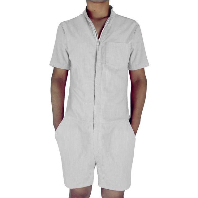 962f4816373 Men s Romper w  Zipper (Multiple Colors)