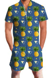 Pineapple Men's Romper (Multiple Colors)