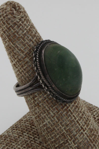 Early Primitive Hand Crafted Varasite Mexican Link Bracelet & Ring, Size 8