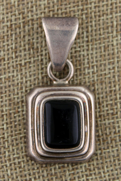 Silpada .925 Sterling Silver Rectangle Onyx Pendant