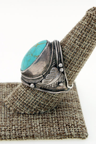 Persian Turquoise Sterling Silver 925 Ring Size 9.75