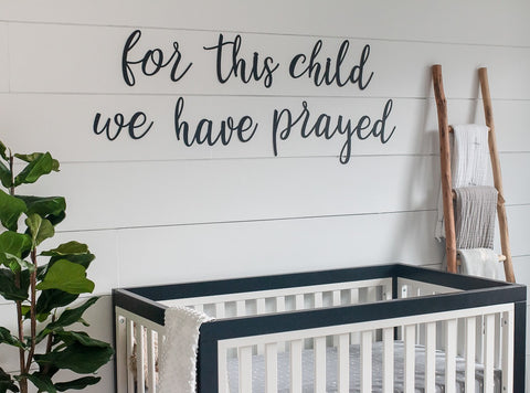For This Child We Have Prayed Metal Word Set