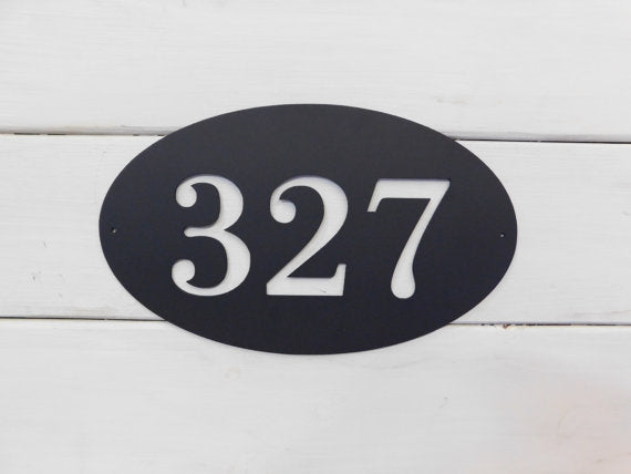Oval Address Sign