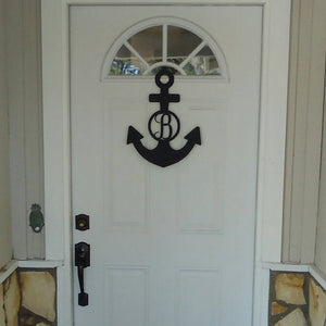 Monogram Anchor Metal Sign