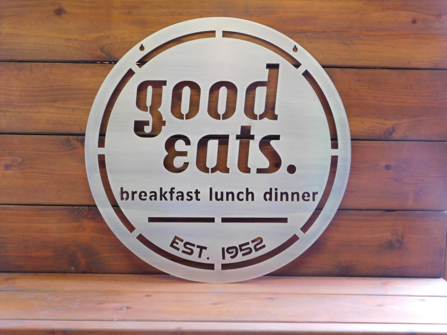 Good Eats Metal Sign