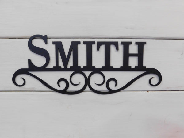 Personalized Name Scroll Sign