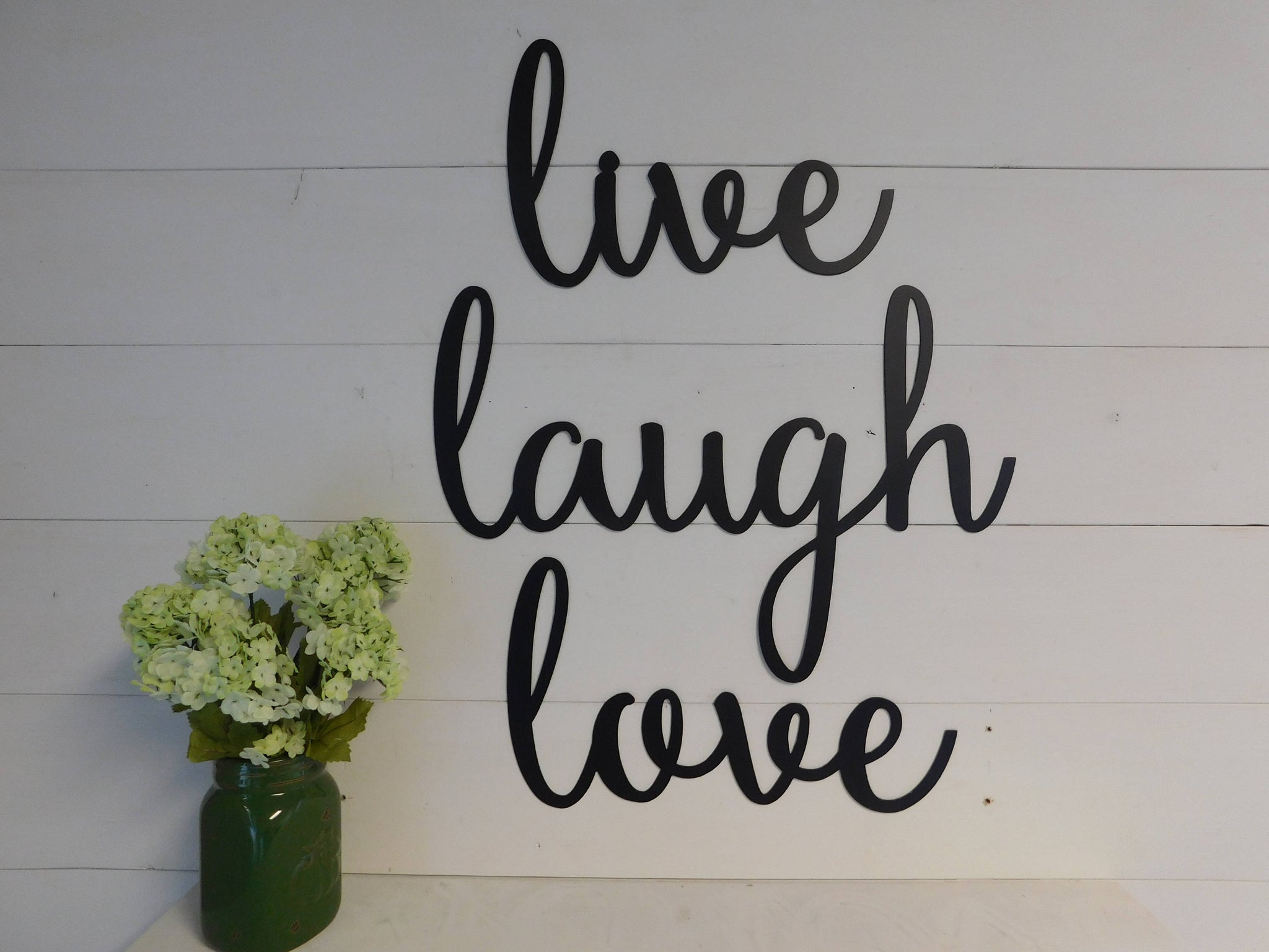 Live Laugh Love, Set of 3 Metal Signs