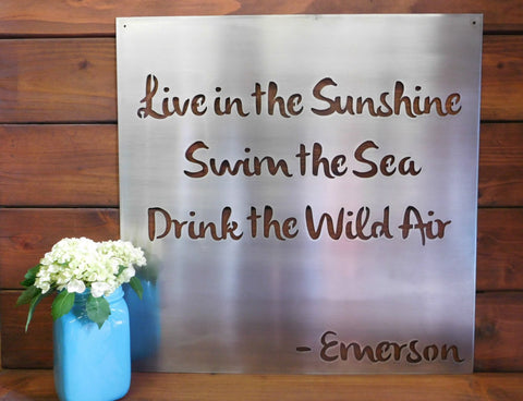 Live In The Sunshine Wall Art Metal Sign