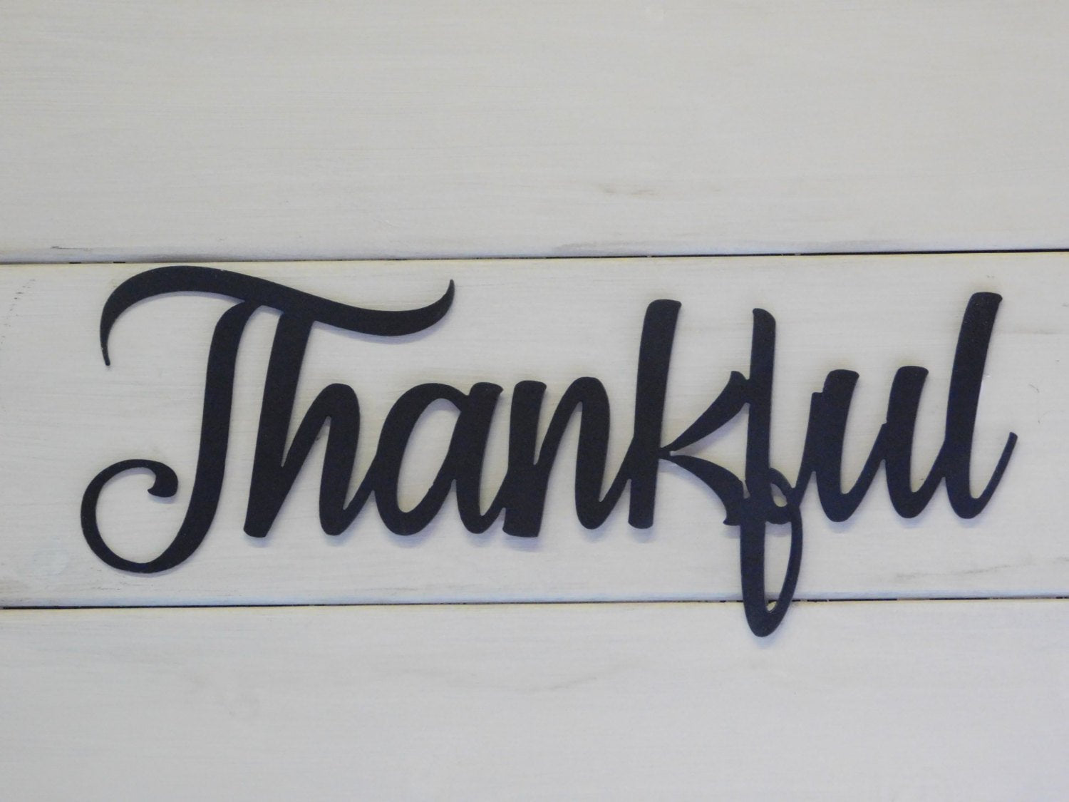Thankful Metal Sign