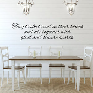 They Broke Bread In Their Homes Metal Word Set